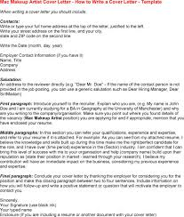 How To Write Mac Makeup Artist Cover Letter How To Write A Cover