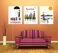 wall paintings for office. Canvas Painting Paris London New York Office Wall Art 3 Piece Home Decoration Abstract-in \u0026 Calligraphy From Garden On Paintings For O