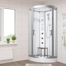 vidalux hydro plus 900mm x 900mm white quadrant hydro shower cubicle self contained cabin 35668 p jpg