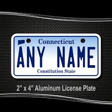 home state plate designs connecticut license plate for bikes bicycles atvs cart walkers motorcycles wagons and vehicles