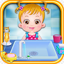 baby hazel hygiene care baby hazel hygiene masha and the bear hair salon and makeup games cartoon child png