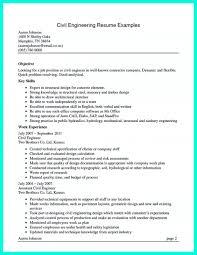 Objective For Civil Engineer Resume Civilgineer Midlevel Resumesgineering Skills And Abilities Resume 22