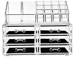 acrylic makeup organizer jewelry cosmetic storage box 6 drawers and 1 makeup display holder 2