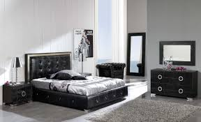 Modern Leather Bedroom Sets Black Modern Beds