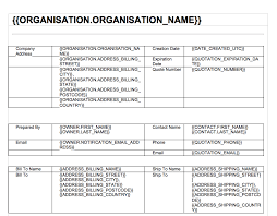 Quote Spreadsheet Template How To Format And Upload A Document Template Insightly
