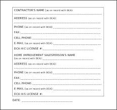 Sample Construction Contract Sample Of Construction Contract Template Bc 254 Ocweb