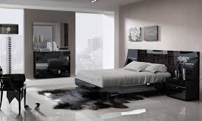 Marbella Bedroom Furniture Marbella Platform Bedroom In Black High Gloss Lacquer Finish By