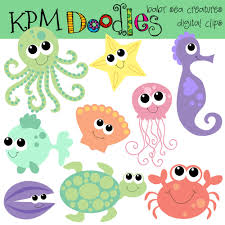 cute sea animals clipart. Fine Animals Intended Cute Sea Animals Clipart A