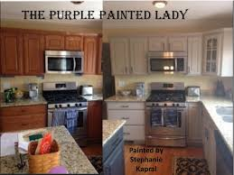chalk painted kitchen cabinetsKitchen Cabinet Stephanie Kapral My Customer The Purple Painted