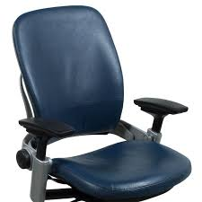 blue task chair. Steelcase Leap V2 Used Leather Task Chair, Blue Chair