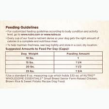 Nutro Wholesome Essentials Senior Small Breed Dry Dog Food Farm Raised Chicken Brown Rice Sweet Potato Recipe 5 Lb Bag