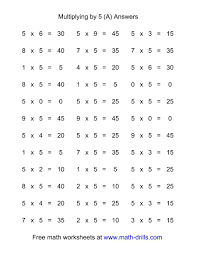 Horizontal Multiplication Facts Worksheets 24 Horizontal Multiplication Facts Questions 24 by 2424 A 1