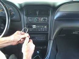 ford mustang stereo and cd removal and repair 1994 2000 youtube 2000 Mustang Radio Wiring Harness ford mustang stereo and cd removal and repair 1994 2000 2000 mustang stereo wiring harness