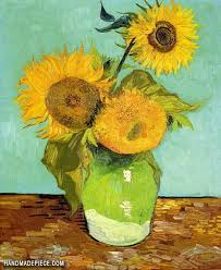 sunflowers oil painting