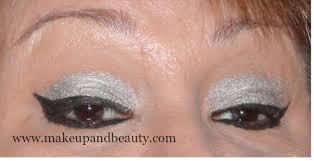 silver black eye makeup