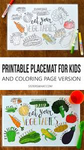 Free Vegetable Printable Coloring Page Place