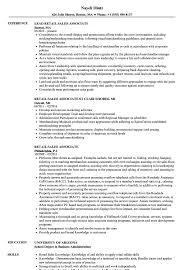 Retail Sales Associate Resume Samples Velvet Jobs S Mychjp