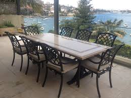 outdoor dining stone milano cast floine pavement
