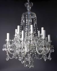 vintage glass chandelier antique crystal chandelier fritz fryer