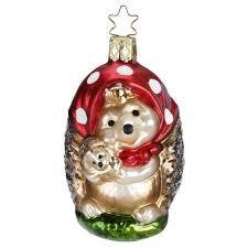 Mama Igel 9cm Zauberwald Weihnachtsschmuck Inge Glas