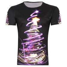 Gothic Christmas Tree Punk <b>Men's 3D Creative</b> T-Shirt http://www ...