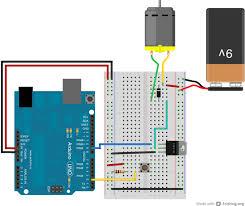 arduino transistormotorcontrol circuit