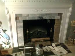 tiling a brick fireplace tile over mosaic purchase best ideas about