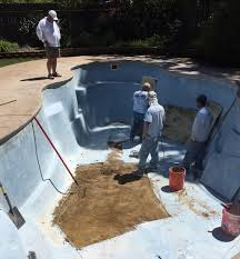prefabricated dropin fiberglass pool before fiberglass pool resurfacing74