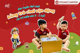 3 trò chơi vận động cho trẻ mầm non 4-5 tuổi tại STEAMe GARTEN