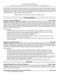Resume Examples, Teaching Experience Special Education Teacher Resume  Template Education Bachelor Of Science Education University