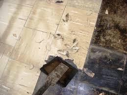 image of how to remove asbestos floor tiles