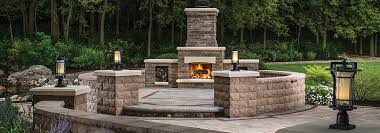belgard outdoor fireplaces kitchens