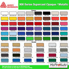 Universal Products Vinyl Color Chart Color Chart All 3m And Avery Vinyl Color Samples