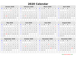 Horizontal Weekly Planner Template Free Download Printable Calendar 2020 In One Page Clean Design
