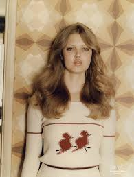 70's Hair Style im loving these soft 70sstyle waves on lindsey wixson 70 3704 by wearticles.com