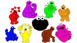 Learn Colorscolours With Cookie Monster Coloringcolouring Pages