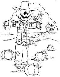 printable scarecrow coloring pages plain design page get this for kids free printable scarecrow coloring pages