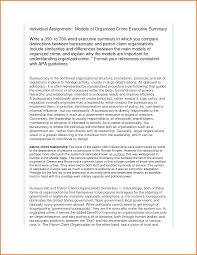 Format For An Executive Summary Cover Letter Samples