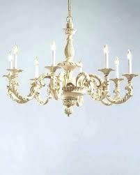 savoy house distressed white wood and iron nine light chandelier chandeliers