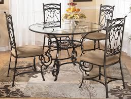 metal gl dining table set design decoration