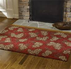 pine cone hooked rug 48