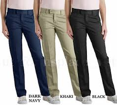 Dickies Juniors Pants Size Chart Details About Dickies School Pants Junior Girl Slim Straight Fit Stretch 719 Black Navy Khaki