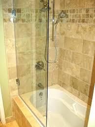 glass tub doors bathtub wonderful sliding shower over door installation delta curved bath euro