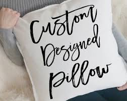 Custom Pillow Design, Personalized Pillow, Custom Pillow Cover, Throw  Pillows, Name Pillow