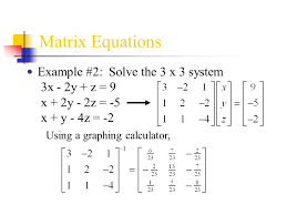 6 matrix equations