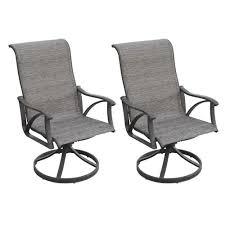 backyard creations gannett peak swivel rocker dining patio chair 2 pack