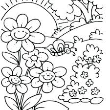 Free Coloring Pages Spring Collection Of Free Preschool Coloring