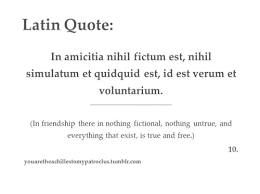 Latin Sentences About Friwndship