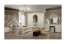 Barock Schlafzimmer Aurora Samt Grünweiß 6 Teilig 160 X 200 Cm 6