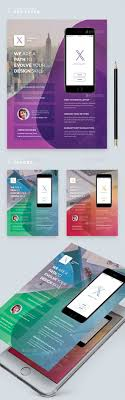 Design Flyers On Android Mobile App Flyer Template Psd Android App Design App